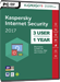 Kaspersky Internet Security 2017 (3 Usuarios / 1 A�o)