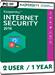 Kaspersky Internet Security 2017 (2 Usuarios / 1 A�o)